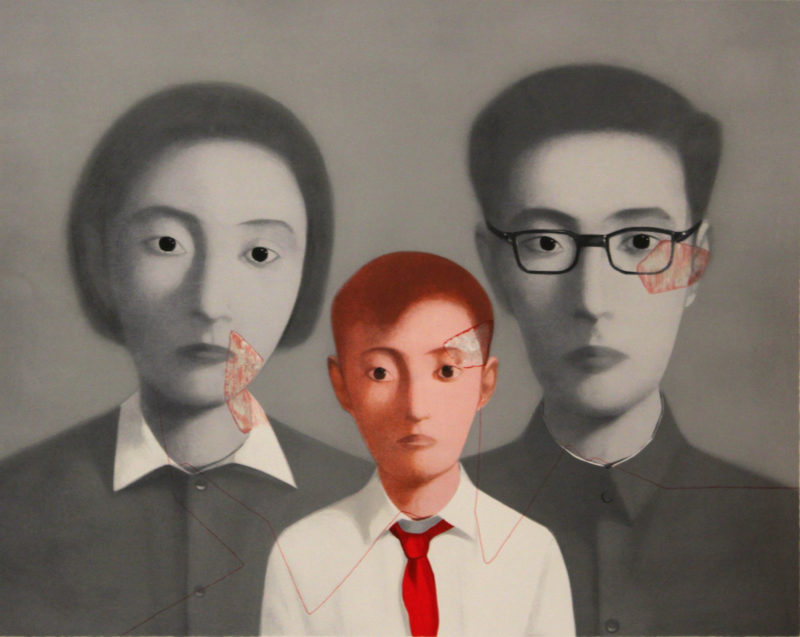 Zhang Xiaogang - Bloodline Series - Big Family, 2003, Lithograph printed in colors, 56.9 x 71.88 cm, Edition of 199