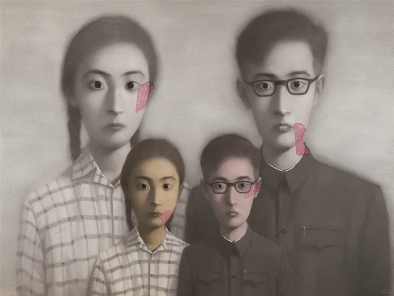 Zhang Xioagang - Bloodline Series - Big Family No. 10, 2000, oil on canvas, 200x300cm