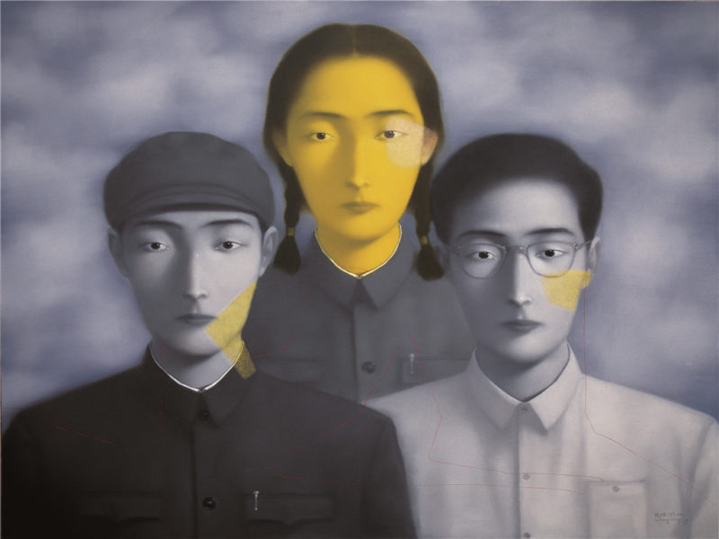 Zhang Xioagang - Bloodline Series - Big Family No. 2, 1996, oil on canvas