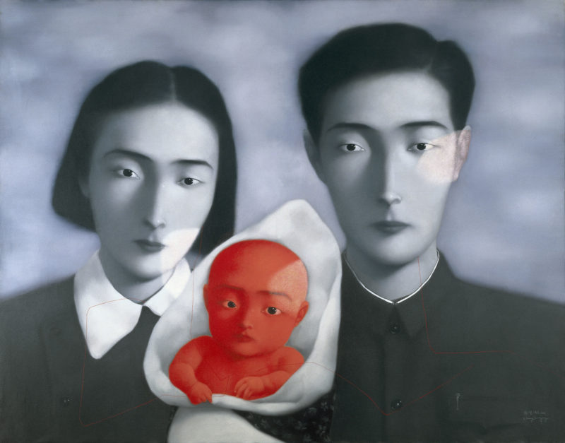 Zhang Xiaogang - Bloodline Series - Big Family No. 9, 1996, oil on canvas, 150cmx190cm