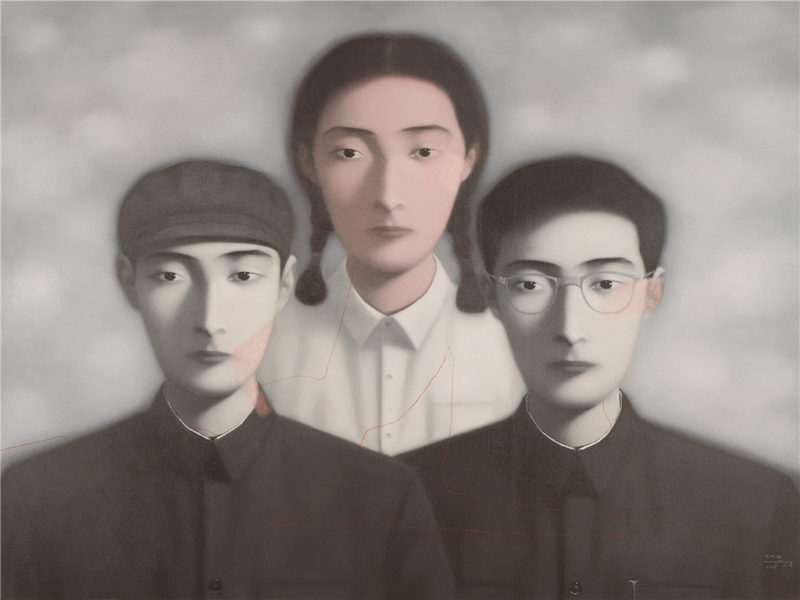 Zhang Xiaogang - Bloodline Series - Big Family No. 9, 1997, oil on canvas, 149x189cm