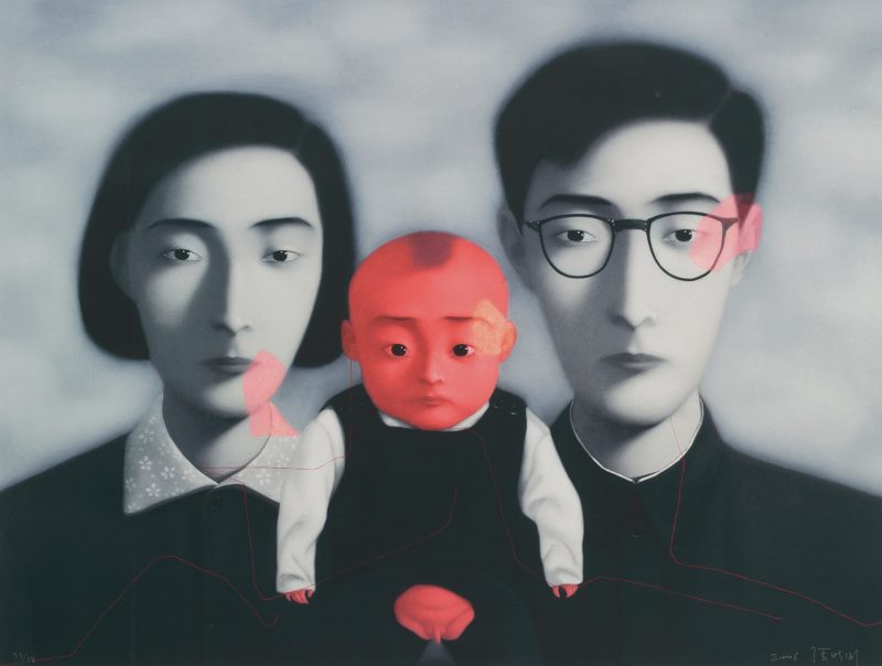 Zhang Xiaogang - Bloodline Series - Big Family Series, 2006, lithograph, 105.4x139.7cm