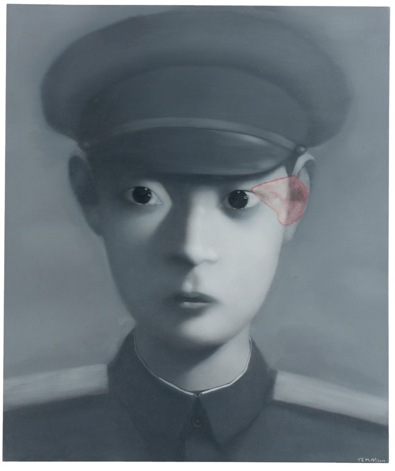 Zhang Xiaogang - Bloodline Series - Boy, 2003, oil on canvas, 130x110cm