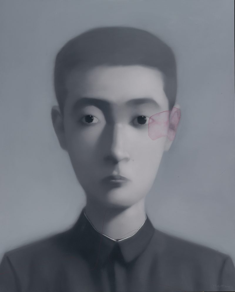 Zhang Xiaogang - Bloodline Series - Boy, 2004, oil on canvas, 146x118cm