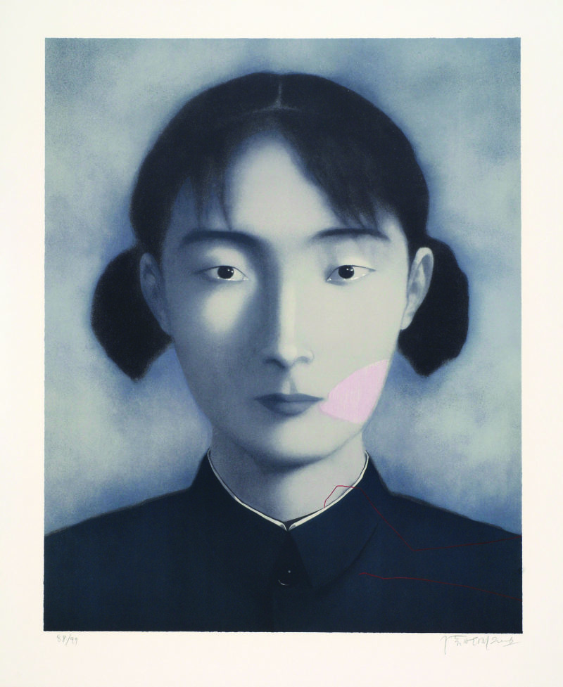 Zhang Xiaogang - Bloodline Series - Comrade (Sister), 2006, Lithograph on wove, 94×77cm, Edition of 99