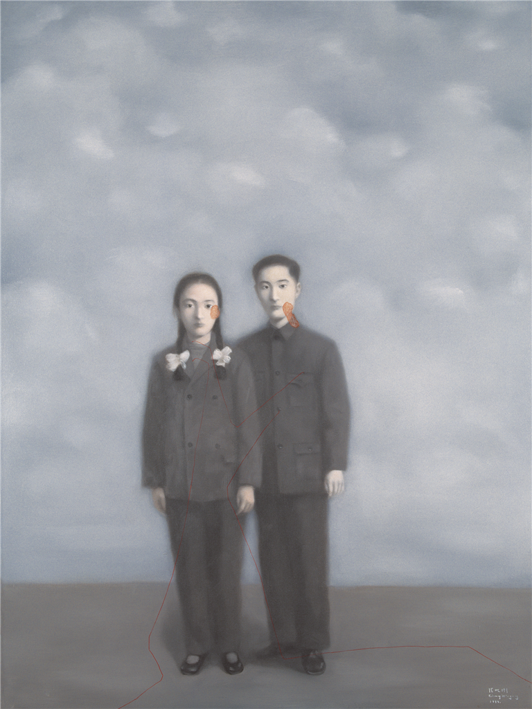 Zhang Xioagang - Bloodline Series - Lovers, 1999, oil on canvas, 130x110cm