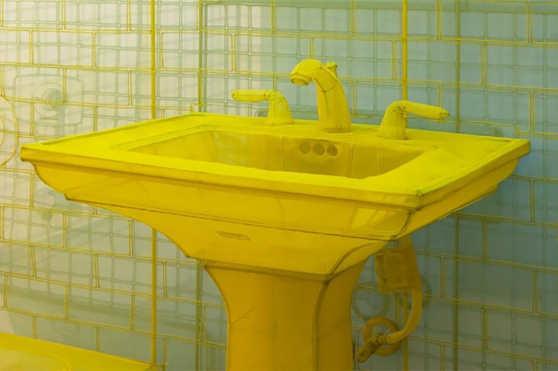 Do Ho Suh - New York City Apartment, Apartment A, Unit 2, Corridor and Staircase, 348 West 22nd Street, New York, NY, 10011, USA. 2011–2014, The Contemporary Austin, Photo Brian Fitzsimmons 2