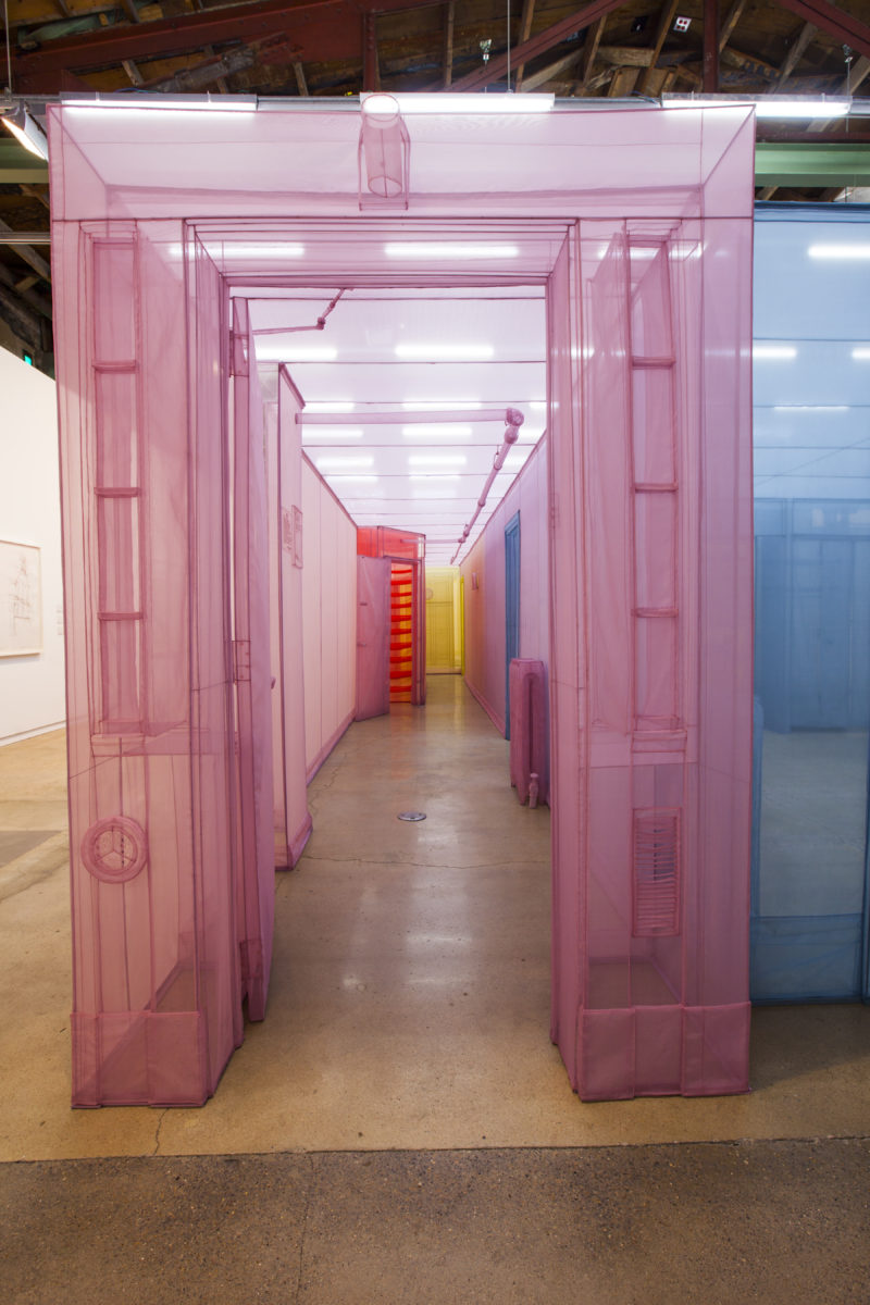 Do Ho Suh - New York City Apartment, Apartment A, Unit 2, Corridor and Staircase, 348 West 22nd Street, New York, NY, 10011, USA. 2011–2014 (detail), The Contemporary Austin, Photo Brian Fitzsimmons 4