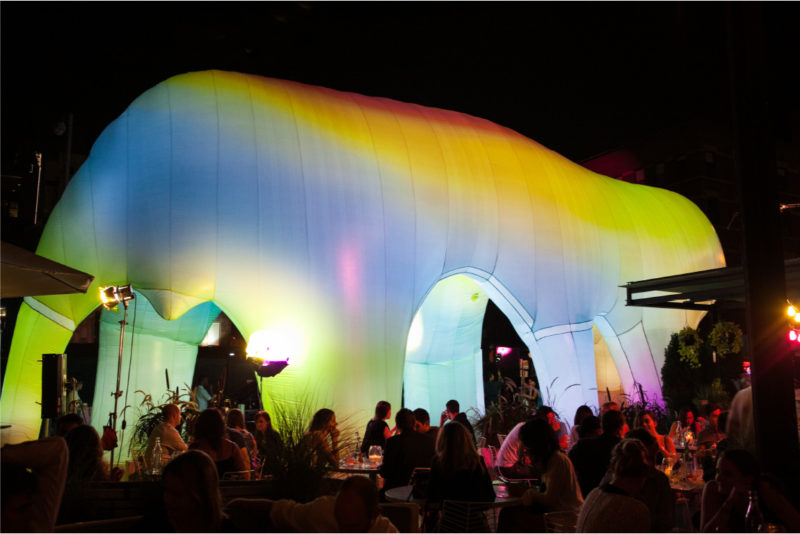 FriendsWithYou - Light Cave, 2014, inflatable approximately 55ft x 25ft x 14ft, Photo Alyssa Ringler