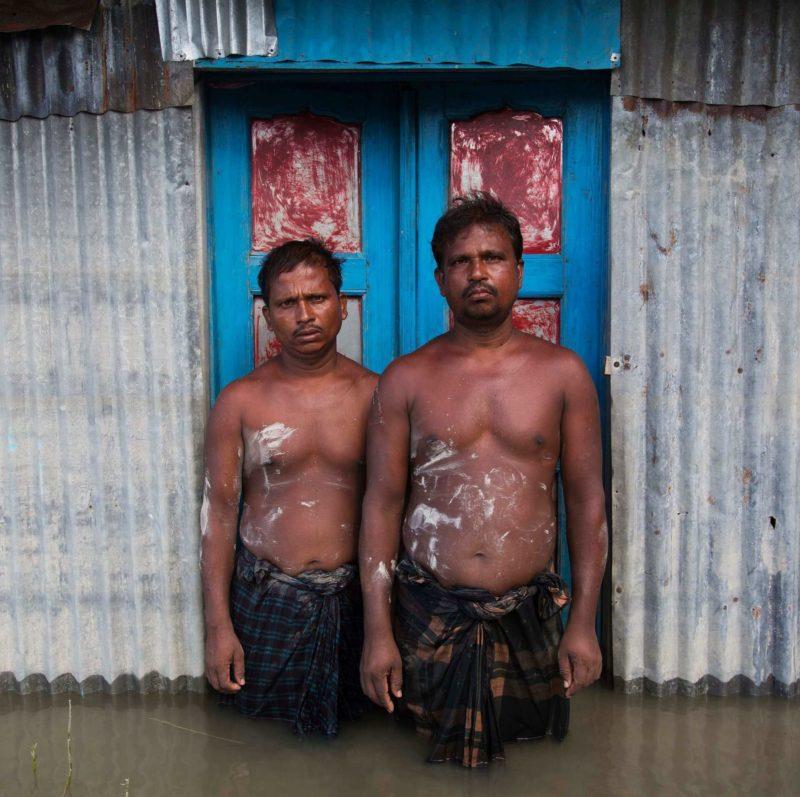 Gideon Mendel - Ripon Islam and Tarajul Islam, Chandanbaisa village, Bogra District, Bangladesh, 13 September 2015