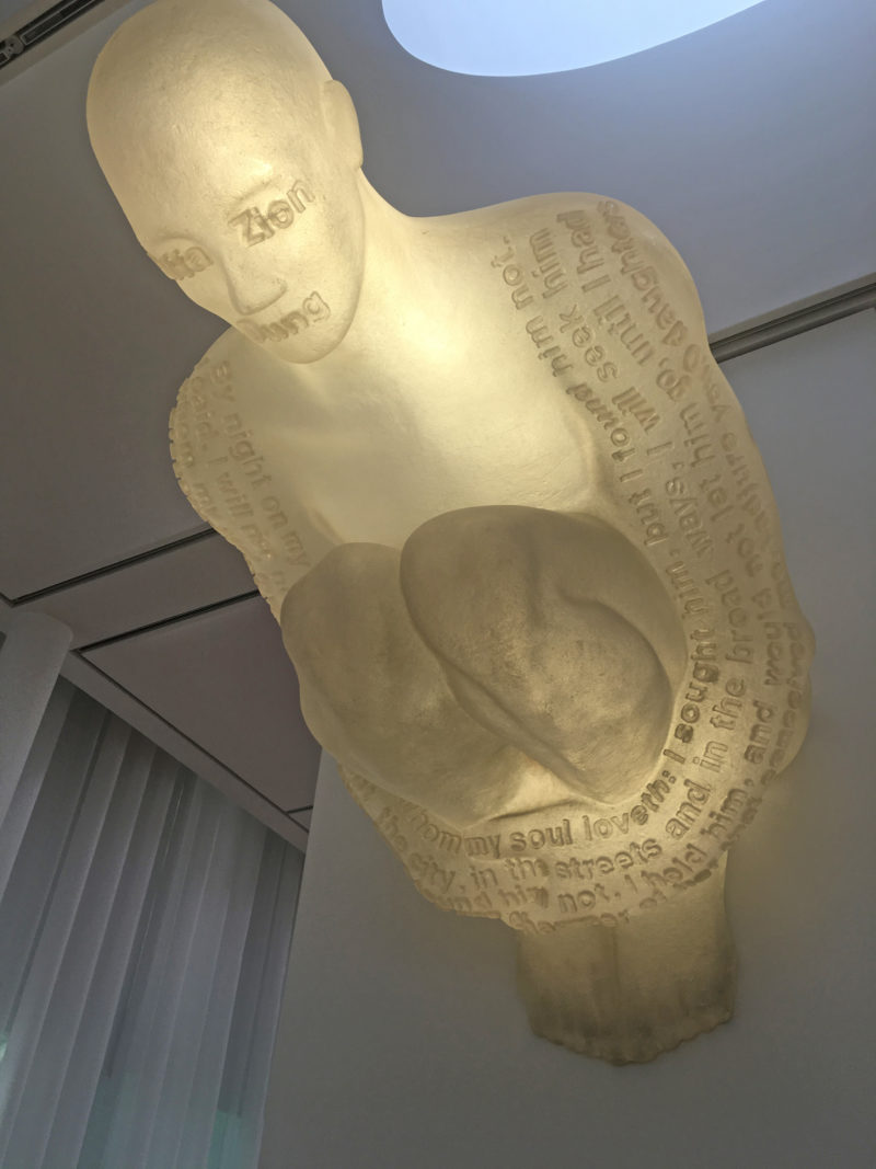 Jaume Plensa - Doors of Jerusalem I, 2006, Resin, stainless steel, and light, 47 1:4 x 62 3:16 x 80 11:16 in. (120 x 158 x 205 cm), installation view, North Carolina Museum of Art, Raleigh, 2016