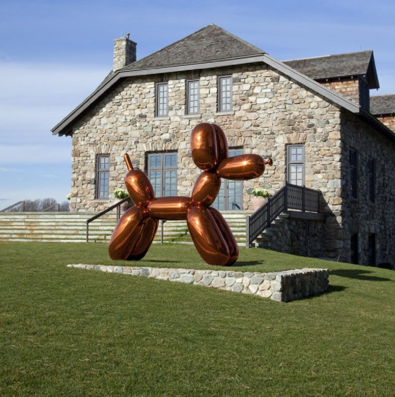 Jeff Koons - Balloon Dog (Orange), 1994-2000 mirror-polished stainless steel with transparent color coating, The Brant Foundation Art Study Center, Greenwich, Connecticut
