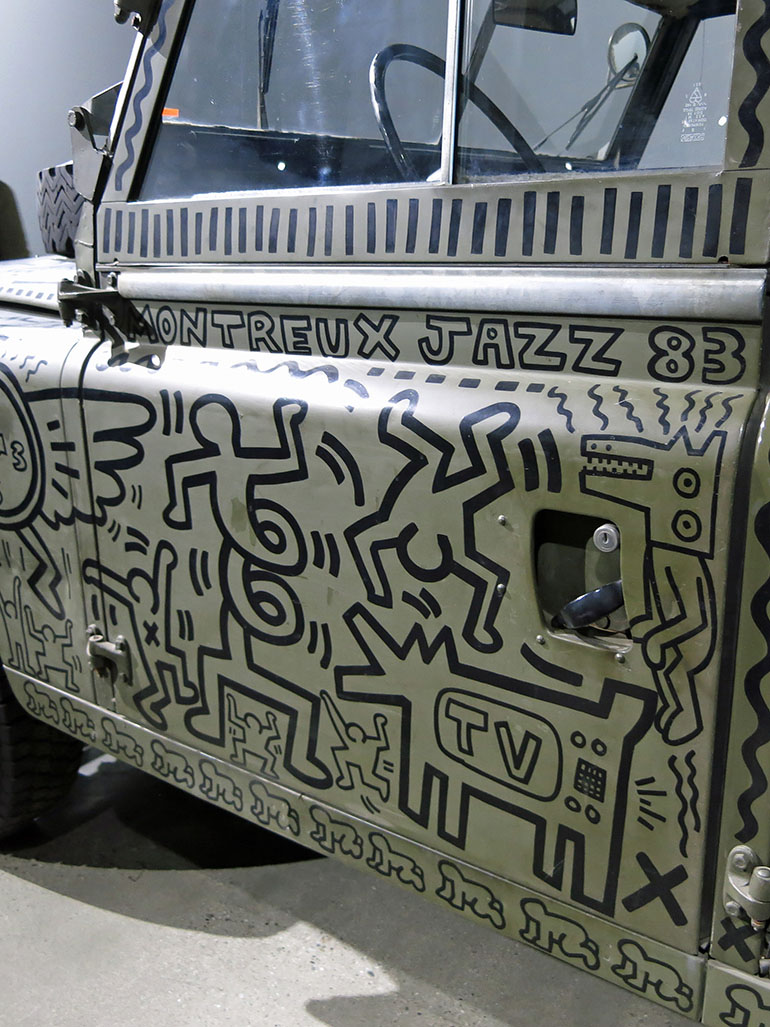 Keith Haring painted on all of these cars