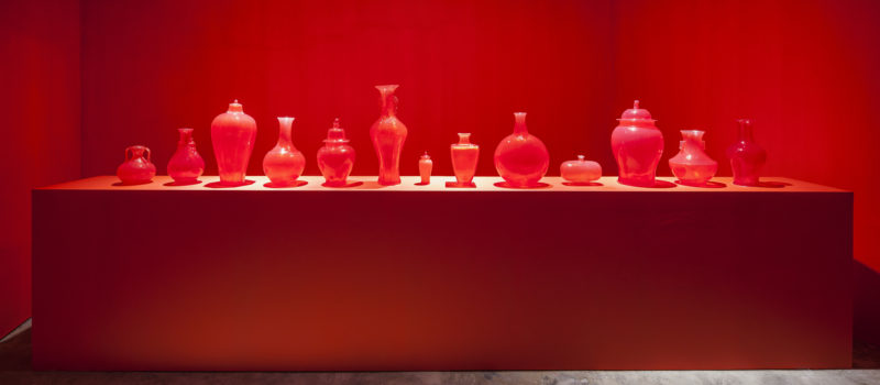 Meekyoung Shin - Installation View @Hakgojae Shanghai, 2015, Translation, Ghost Series(Red), 2007-ongoing, Soap, varnish, fragrance, Dimensions variable