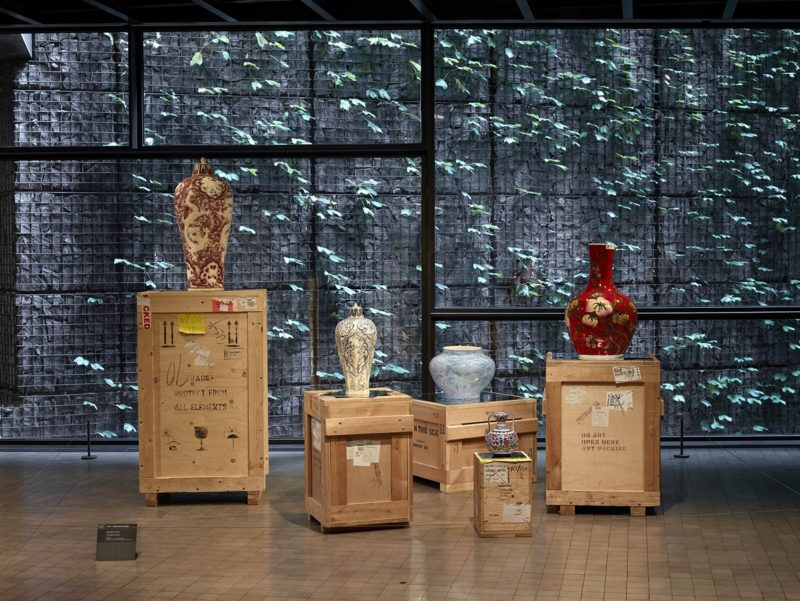 Meekyoung Shin - Translation, Vase series, Soap, pigment, varnish, mirrored steel, fragrance, wooden crate, Leeum, Samsung Museum of Art