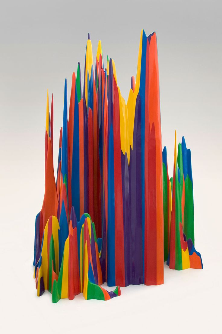 Sol LeWitt - Splotch #22, 2007, Acrylic on fiberglass, 148 x 96 x 86 in, 375.92 x 243.84 x 218.44 cm