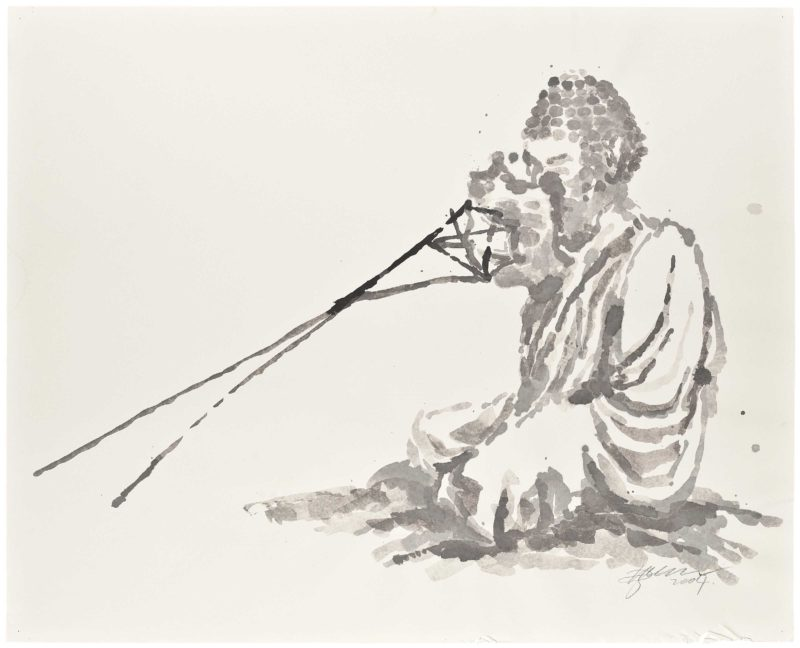 Zhang Huan - Berlin Buddha (Preparatory Drawing), 2007, ink on paper, 82.5 x 102cm