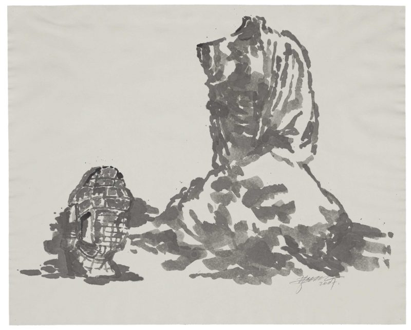 Zhang Huan - Berlin Buddha (Preparatory Drawing) 4, 2007, ink on paper, 82.5 x 102cm