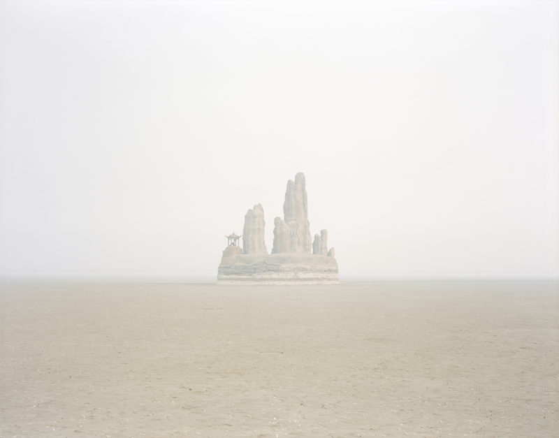 Zhang Kechun - Fake Hill in the Middle of the Lake, Shandong, 2011