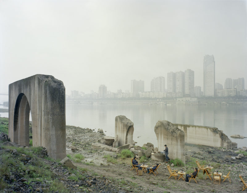 Zhang Kechun - People Drink Tea by the River, 2013