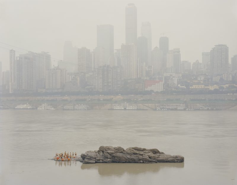 Zhang Kechun - Stone in the Middle of the River, 2013