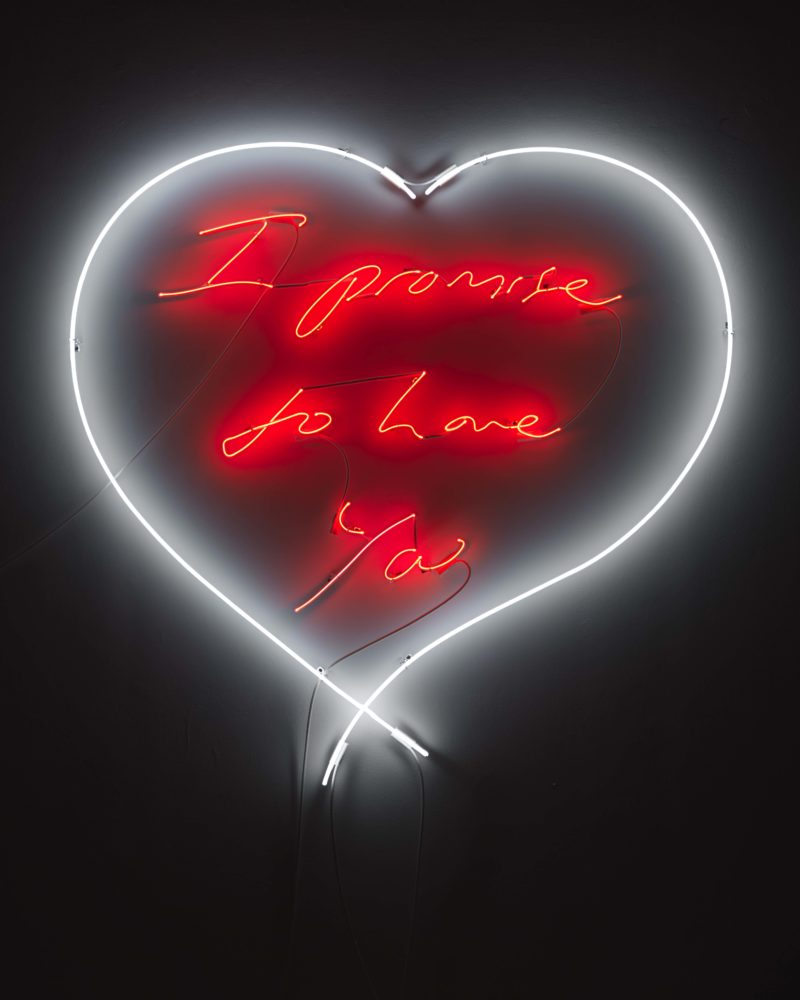Tracey Emin - I promise to Love You, 2010, Neon, 145.8 x 143 cm
