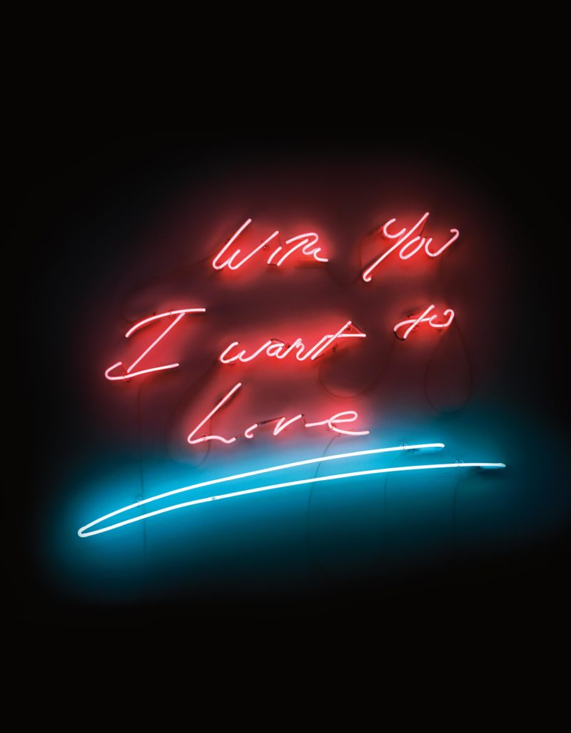 Tracey Emin - With You I Want To Live, 2008, neon, 76.2 x 99.1 x 5.7 cm