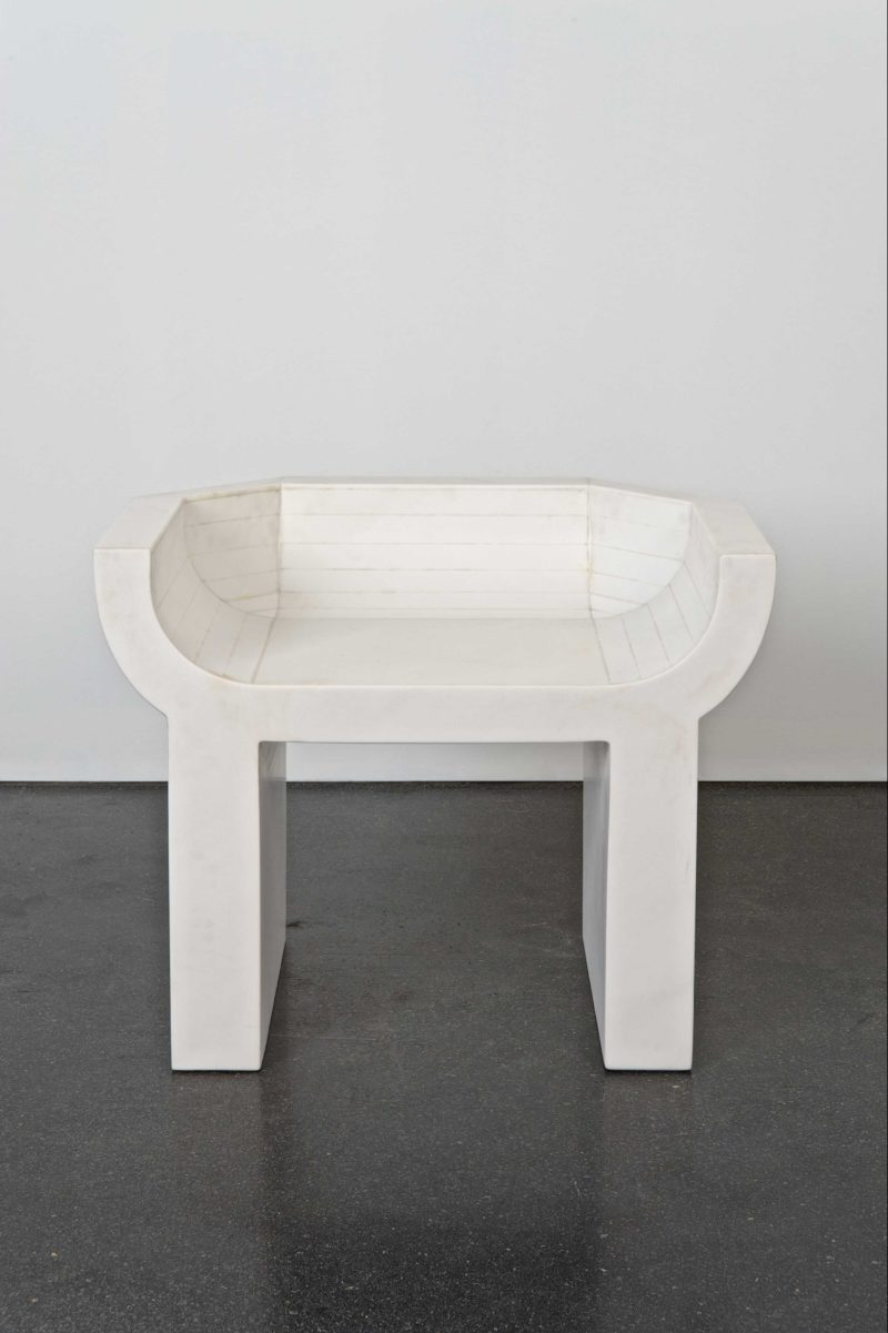 Rick Owens - Curial, 2009, White Marble, Edition of 8, 66x83x60c