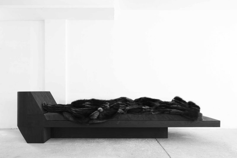Rick Owens, Daybed, 2012, Black Plywood, Edition of 12, 86x325x90cm