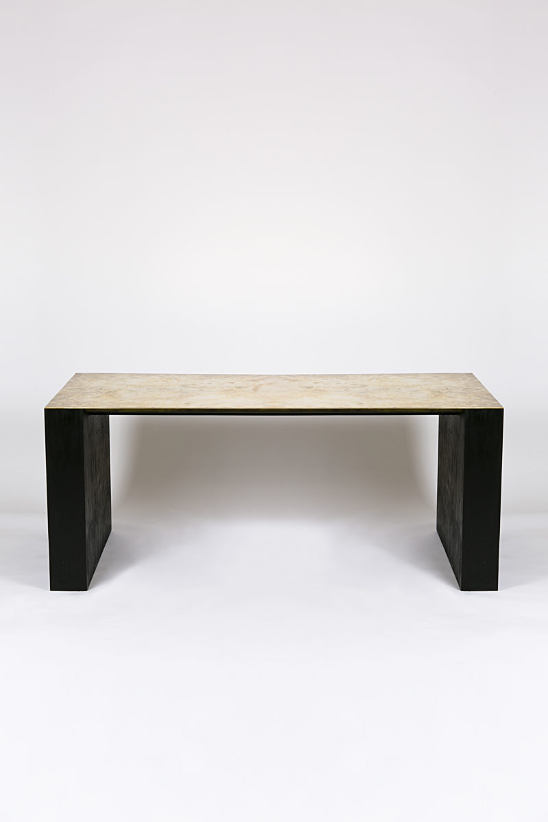 Rick Owens - Showroom Table, 2007, Brass and plywood, 75x183x83cm