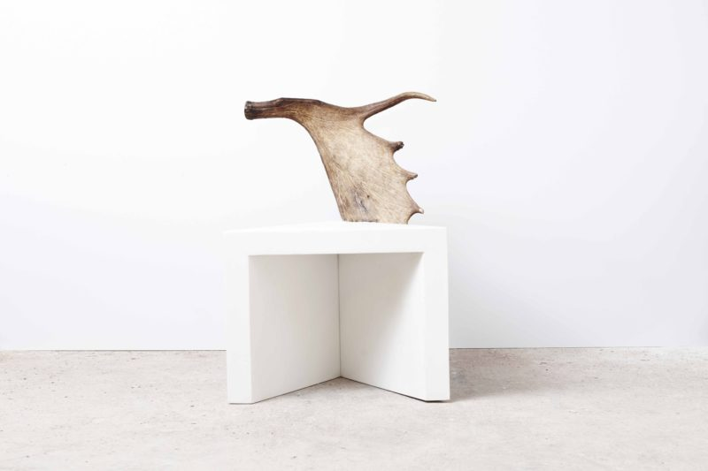 Rick Owens - Stag Stool (Right), 2012, White Marble, Moose Antler, Edition of 8, 86x63x56cm