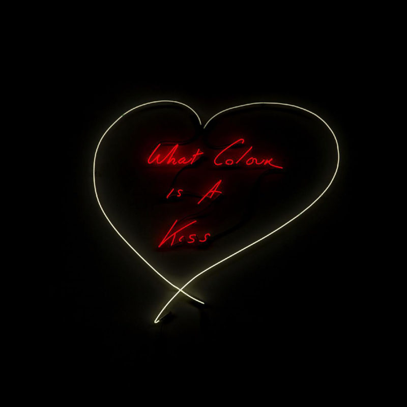 Tracey Emin - What Colour is a Kiss, Neon, 2015