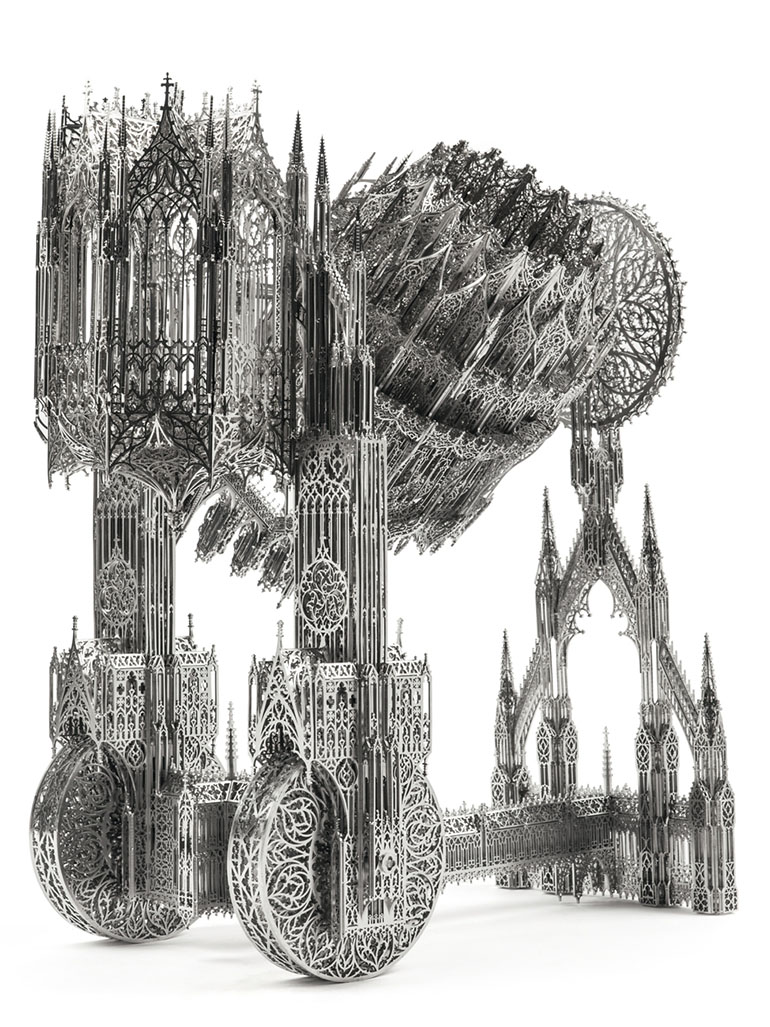 Wim Delvoye's models of cathedral-like trucks - Attractive & repulsive