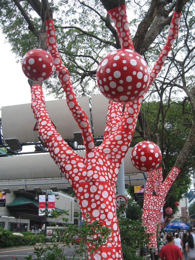 Yayoi Kusama - Ascension of Polka Dots on the Trees, 2006, Singapore Biennale