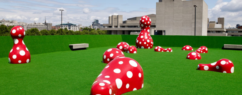 Yayoi Kusama - exhibition Walking in My Mind, Hayward Gallery, London