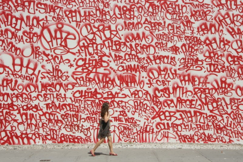 Barry McGee – Detail of mural on Houston and Bowery, New York, 2010