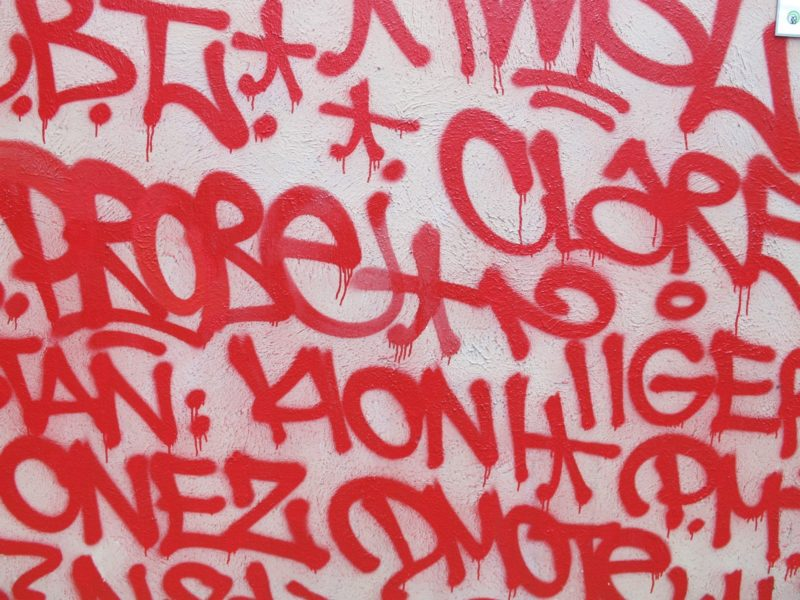 Barry McGee - Tag Mural in Sydney, Australia, 2011-2012, Tank Stream Way - Detail