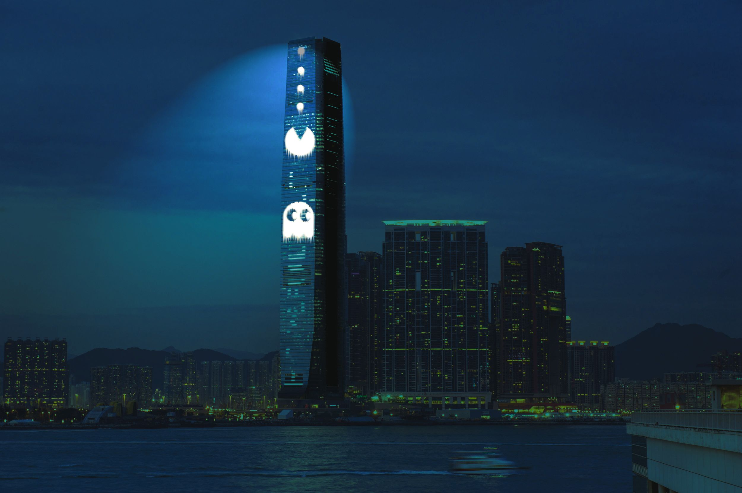 Tall City Delivery >> Cao Fei Shows Iconic Video Games On 490m Tall Hong Kong Building