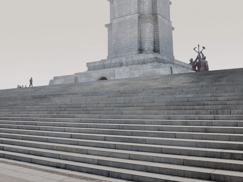North Korea - Setting the Stage - Pyongyang - Stairs Juche Tower