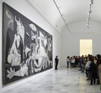 Pablo Picasso - Guernica, 1937, oil painting on canvas, 3.49x7.77m, Museo Reina Sofía, Madrid, Spain