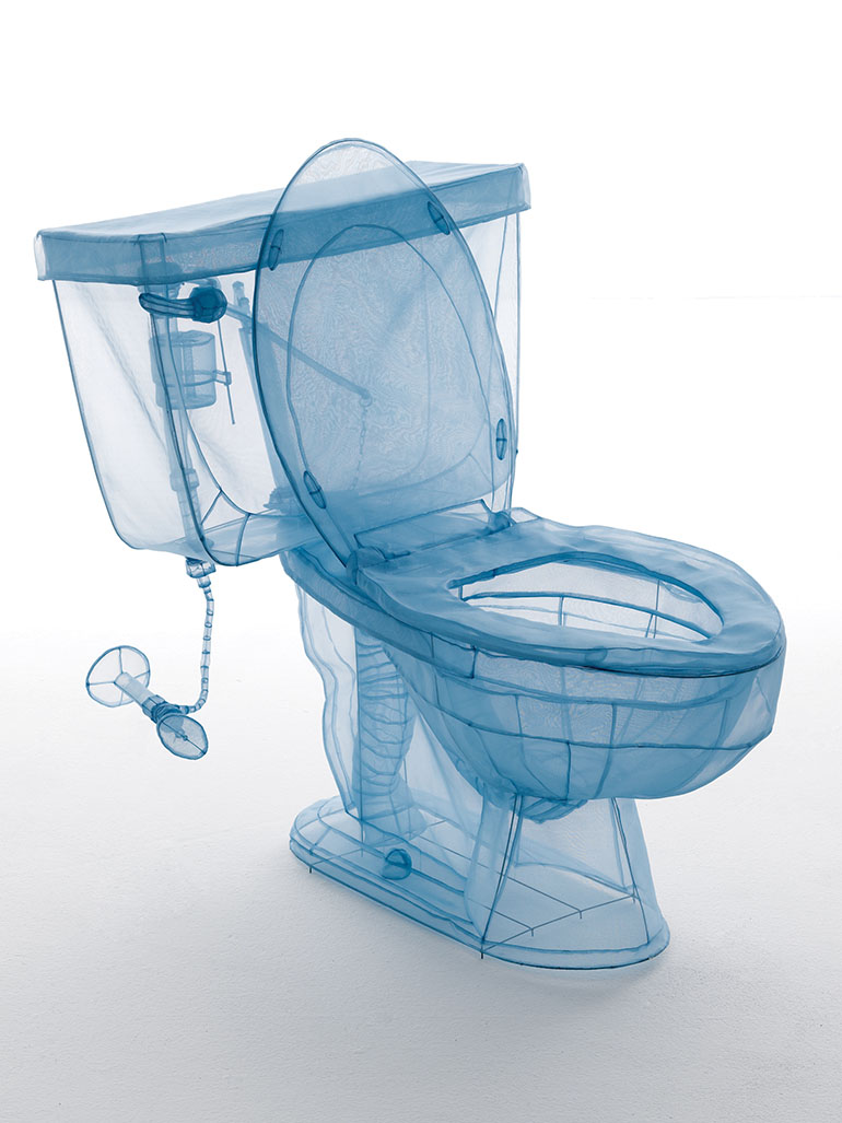 Do Ho Suh's Specimen: Sculptures of toilets & bathtubs