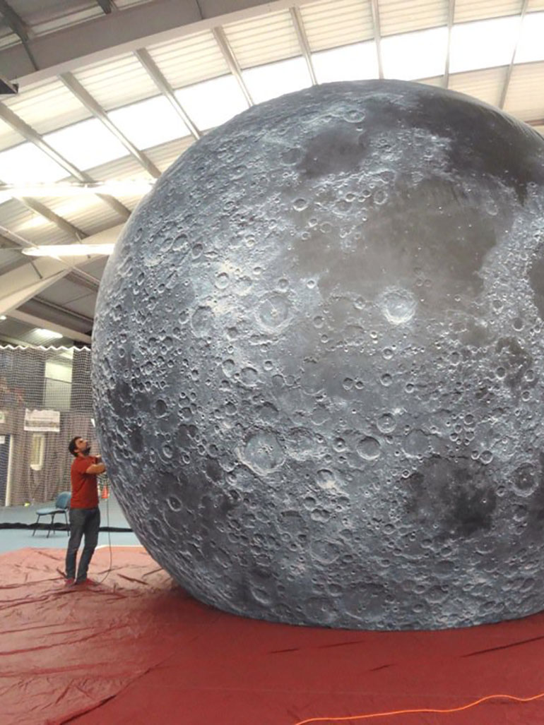 Luke Jerram stunning moon replicas - Created from NASA imagery