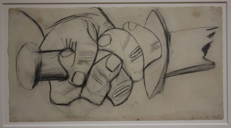 Pablo Picasso – Sketch for Guernica, 1937, installation view, Museo Reina Sofía, Madrid, Spain