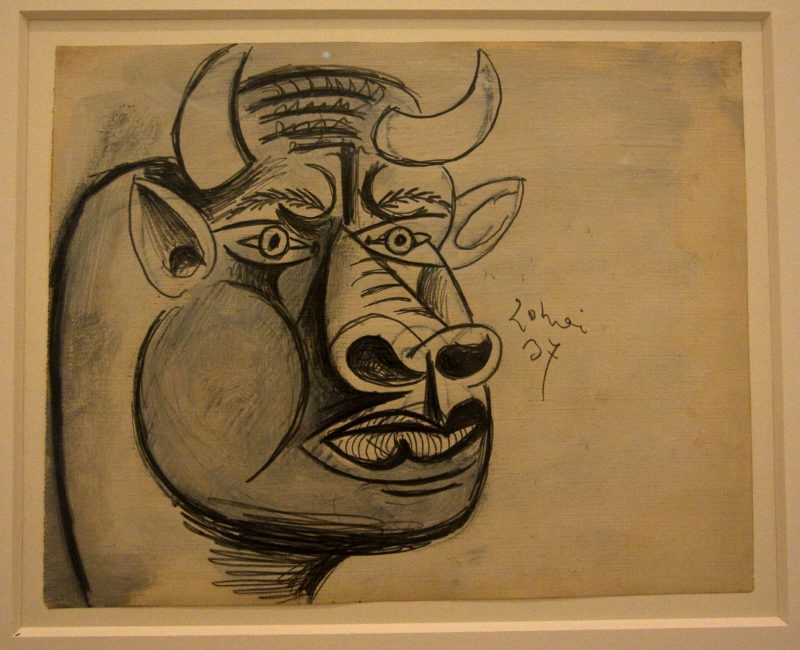 Pablo Picasso – Study for Guernica, 1937, installation view, Museo Reina Sofía, Madrid, Spain