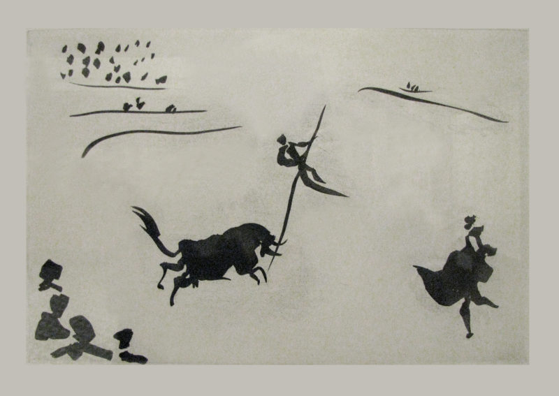 Pablo Picasso - La Tauromaquia. Leap with the Spear, Plate VIII, 1959. Aquatint. edition of 250