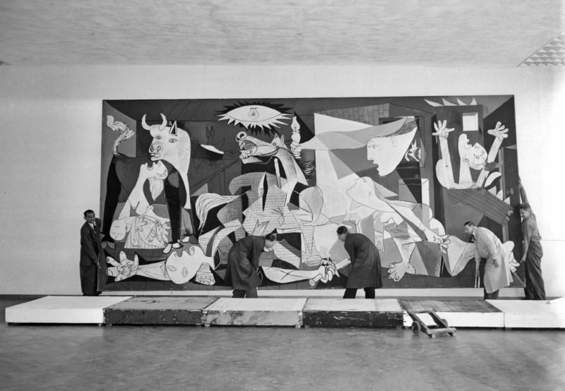 Pablo Picasso's Guernica in Amsterdam's Stedelijk Museum, 11 July 1956