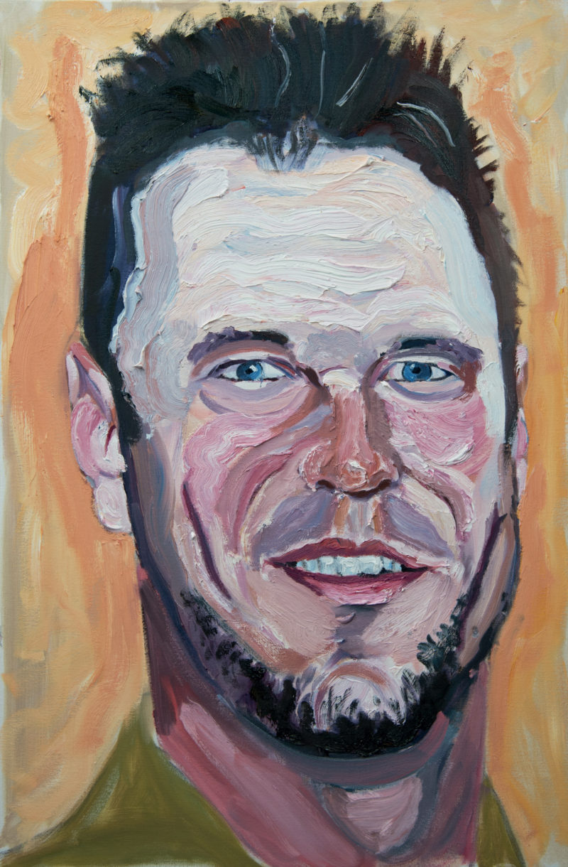 George W. Bush - Lance Corporal Timothy John Lang U.S. Marine Corps, 2005-2010, Oil on stretched canvas, 24″x36″