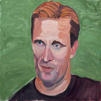 George W. Bush - Lieutenant Colonel Kent Graham Solheim U.S. Army, 1994 – Present, Oil on stretched canvas, 30″x30″