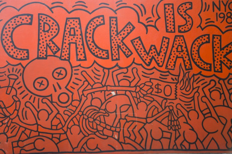 Keith Haring – Crack is Wack, 1986, handball court at 128th Street and 2nd Avenue, New York