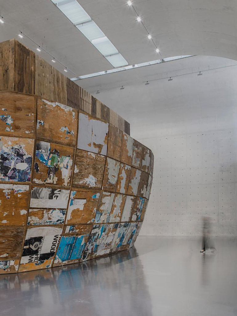 Mark Bradford's giant sculpture Mithra resembles Noah's ark